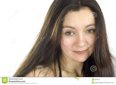 middle age hair cut in dreams middle aged woman long hair stock photography image 3549472