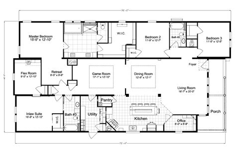 floor plan la la belle iv x4769h home floor plan manufactured and or