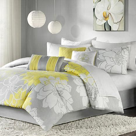 hsn bedding madison park lola comforter set gray yellow 10063823 hsn