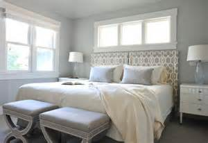 white and grey bedroom gray trellis headboard contemporary bedroom benjamin moore wickham gray enviable designs