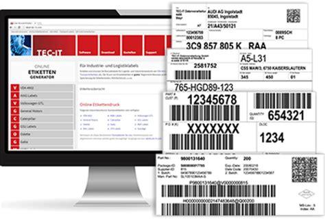 Etiketten Online Erstellen Kostenlos by Tec It News Barcode Etiketten Und Reporting Software