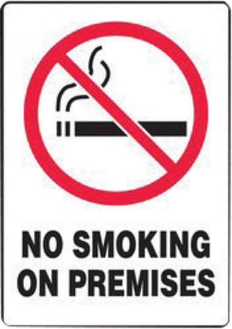 printable no smoking on premises sign airgas a81msmk924ep accuform signs 174 10 quot x 7 quot red