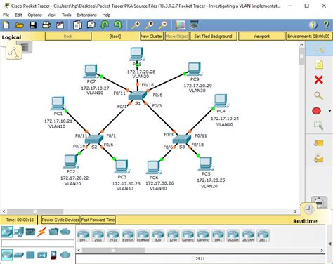 cisco packet tracer switch configuration tutorial pdf 6 1 2 7 packet tracer investigating a vlan implementation