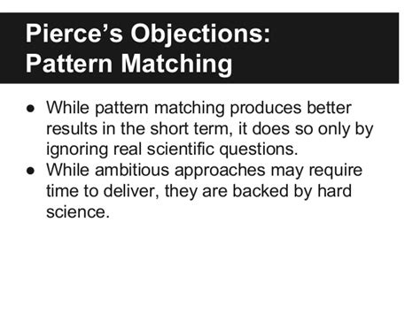 pattern matching explained paper presentation a pendulum swung too far