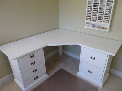 Corner Vanity Desk by Here Is The Corner Desk My Dh Built For Me For