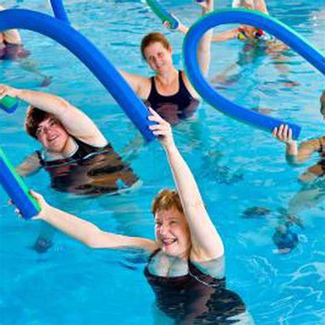 swimming pool exercises using an aqua noodle healthy living