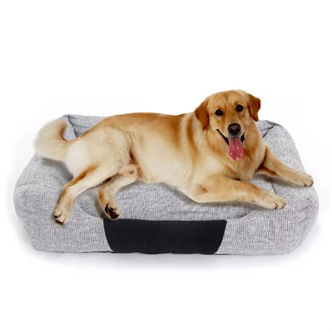 dimensions for large dog house fast delivery 90 65cm big size bed for large dog pet dog house gray cotton sofa pet