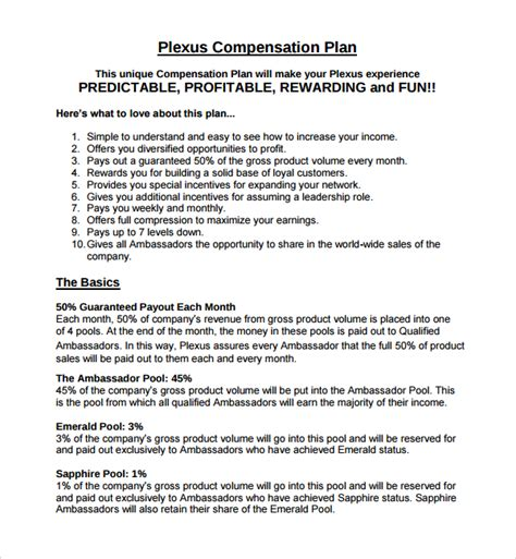 Compensation Plan Template Deferred Compensation Plan Agreement Sales Compensation Plans Compensation Template