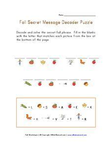 s day secret message worksheet fall secret message decoder puzzle worksheet for 2nd 3rd