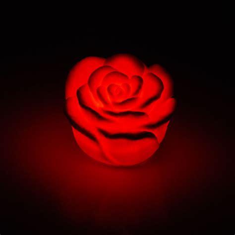 Romantic Color For Bedroom - 50pc ship led red rose flower light led wholesale 50pc lot free ship led red rose flower