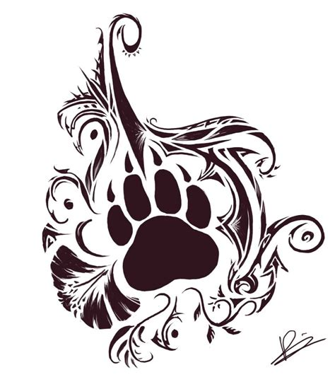 tribal dog tattoo paw tattoos on small 3d tattoos paw