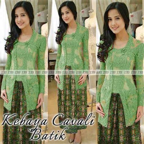 Cavali Batik jual kebaya cavali batik hijau harga murah medan oleh