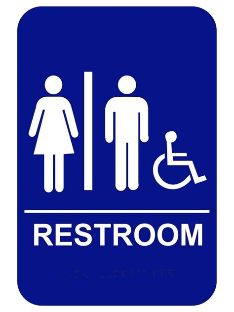 ada bathroom signs unisex handicap restroom sign ada braille compliant 6