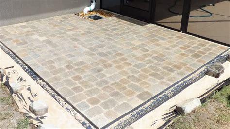 patio paver base block patio using brock paver base
