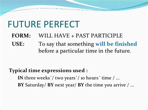 pattern future perfect future perfect tense english grammar auto design tech