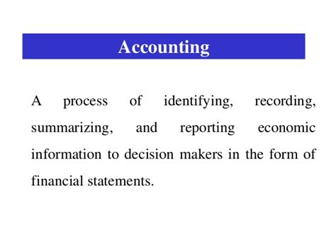 3 5 Accounting To Mba by 1 Intro To Financial Accounting Mba
