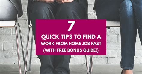 7 Tips On Finding A by 7 Tips To Find A Work From Home Fast Work From