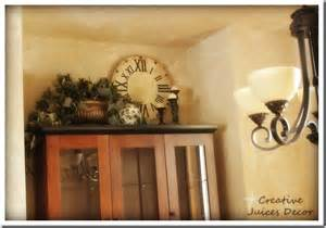 Kitchen Hutch Decorating Ideas Creative Juices Decor Decorating The Top Of Your Kitchen