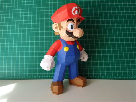Desk Bikes Make Your Own Super Mario Paper Craft Gadgetsin