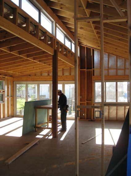 roofline  clerestory windows showing rafters