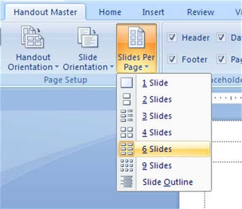 microsoft powerpoint tutorial handout format the handout master handout 171 slides 171 microsoft