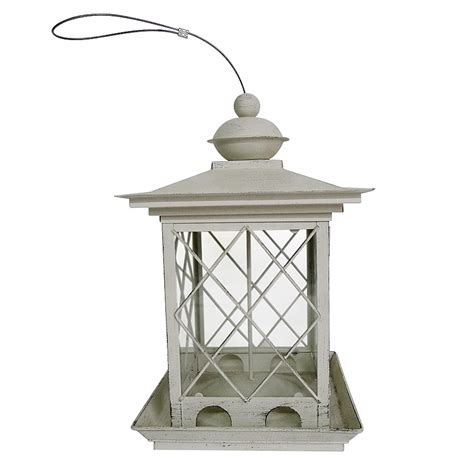 shop garden treasures metal hopper bird feeder at lowes com