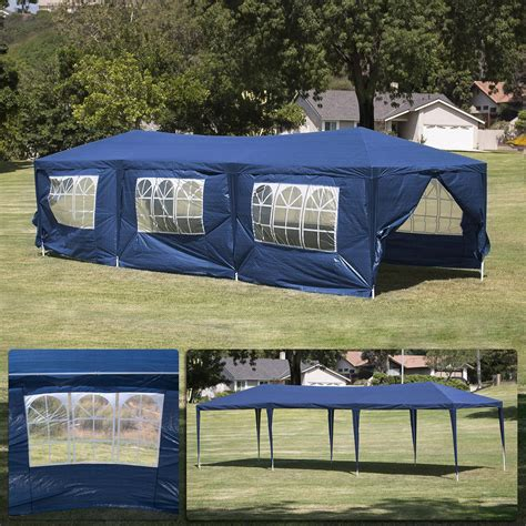 blue party tent canopy gazebo