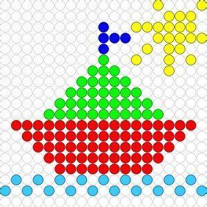 kleine zeilboot kleine zeilboot mosaicos 3 patrones redondos