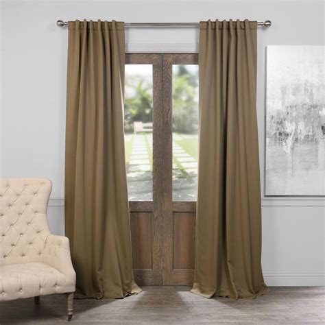 Olive Green Curtains Drapes Exclusive Fabrics Furnishings Olive Green Blackout Curtain 50 In W X 84 In L Pair