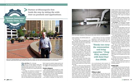 Plumbing Engineer Magazine by Randy Named 2017 Plumbing Engineer Of The Year