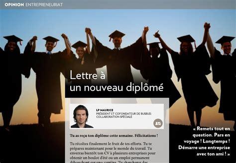 Lettre De Félicitation Entreprise Lettre 224 Un Nouveau Dipl 244 M 233 La Presse
