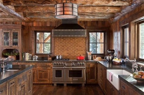 Antique Wagon Wheel Chandelier Top 10 Beautiful Rustic Kitchen Interiors For A Warm