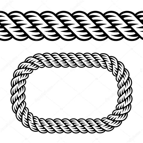 svg rope pattern seamless black rope symbol stock vector 169 happyroman