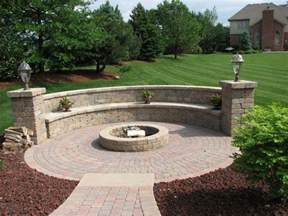 Backyard Ideas With Firepit Exterior Popular Pit With Paver