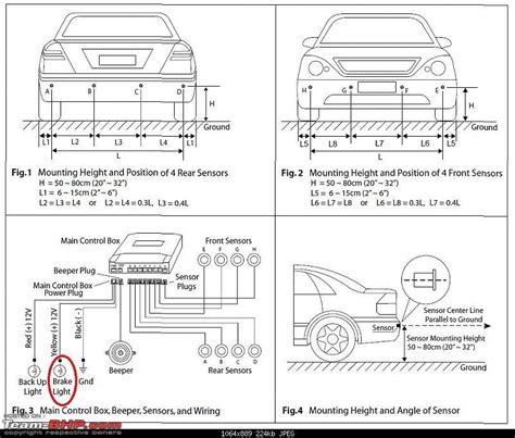 parking sensor wiring diagram 29 wiring diagram images