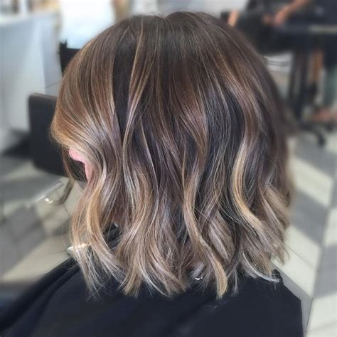 blonde highlights on brunette hair over 60 bangs and balayage hairstyle galleries for 2016 2017