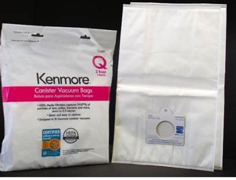 Kenmore Vaccum Bags by Kenmore Q Hepa Vacuum Bags Synthetic For Canister 2 Pack