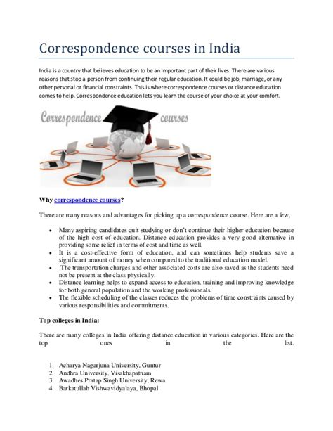Correspondence Mba Programs In India by Correspondence Courses In India Way2college