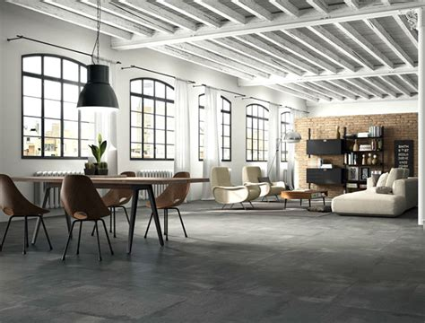 porcelain floor tiles  concrete effect interiorzine