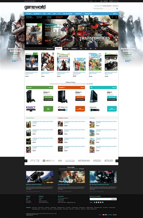 shopify themes reddit game store shopify theme gameworld on inspirationde