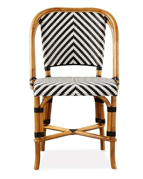 cafe chairs woven parisian bistro woven side chair williams sonoma