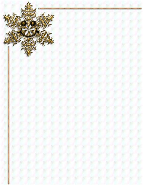 Winter Stationery Theme Downloads Pg 1 Snowflake Stationery Template