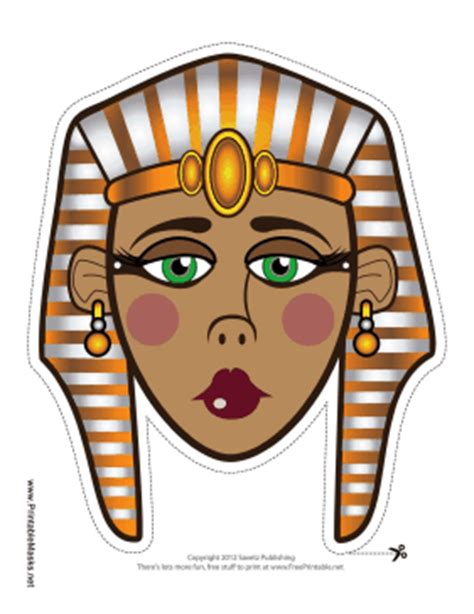 printable egyptian queen mask mask