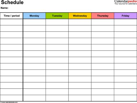 weekly classroom schedule ms anderson s class