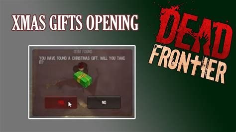 dead frontier opening christmas gift 2015 youtube