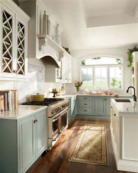 vintage farmhouse kitchen island 27 trendy two toned kitchen designs you ll like digsdigs