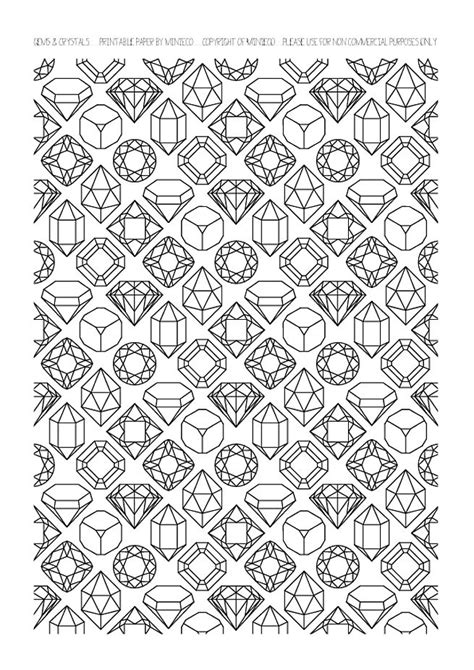 printable coloring pages gemstones how to draw gemstones
