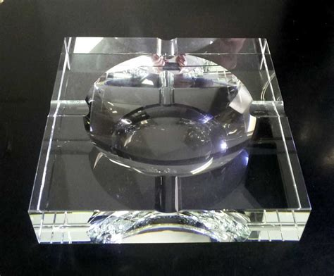 personalized crystal glass ashtrays with custom names
