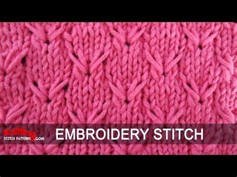 embroidery stitches on knitting 1000 images about knitted on pattern