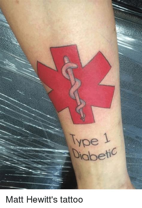 type 1 diabetic matt hewitt s tattoo tattoos meme on sizzle